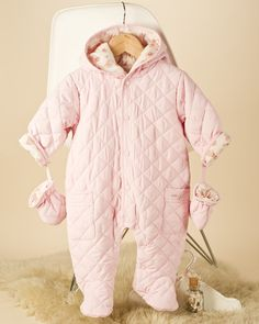 Quilt Baby Girl Snowsuit - Baby Pram Suits / Snow suits - View by Product - Newborn Essentials