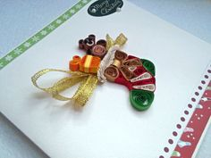 Quilling Christmas Card Handmade Christmas by KateCreatesSerenity