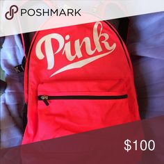 🙎Victoria's Secret pink New BACKPACK ❤️LIMITED EDITION. SOLD OUT EVERYWHERE. VICTORIAS SECRET PINK CAMPUS BACKPACK❤️authentic. Nwt. Never used. brand new w tags, ️AUTHENTIC VS Pink Backpack,I discreetly ship same/nxt day.🌴Full size,well made. Super cute,Multi compartment.Great4any age 4school,gym,play,travel,anybody on the go 🌺   Salmon pink✅only have few lft,⭐️ PINK Victoria's Secret Bags Backpacks