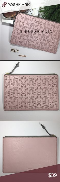 4440c4dbe8 Fossil RFID Large Slim Leather clutch Fun addition to your handbag  collection! - Beautiful Powder