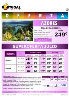 SUPEROFERTA Azores Sao Miguel julio 8d/7n salida 10 y 24 julio vuelo directo Barcelona desde 249 € ultimo minuto - http://zocotours.com/superoferta-azores-sao-miguel-julio-8d7n-salida-10-y-24-julio-vuelo-directo-barcelona-desde-249-e-ultimo-minuto/