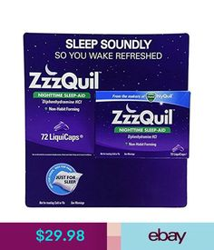 Sleeping Aids Zzzquil Nighttime Sleep Aid Support From The Makers Of Vicks Nyquil 72 Liquicaps #ebay #Fashion