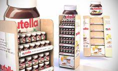 Nutella, Pop up unit, Concept, POS, POP. Point of sale. Point of purchase. Lance Eggersglusz