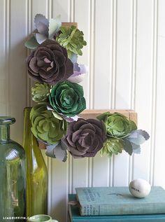 Four Paper Succulent Tutorials