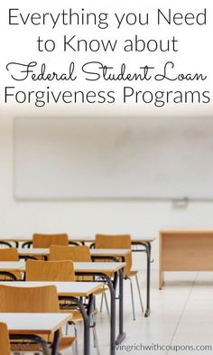 Everything you need to know about federal student loan forgiveness programs #FinanceStudent