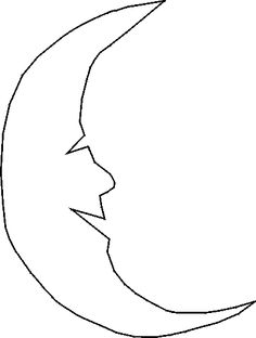 man in the moon stencil