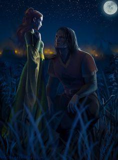 Amazing Digital ASOIAF Illustration of Sansa and Sandorby mathiaarkoniel #asoiaf #gameofthrones