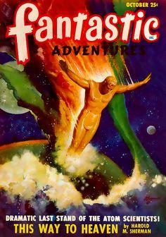 fantastic Adventures - October 1948, Volume 10, Issue 10. Cover art by Robert Gibson Jones.