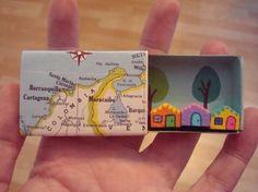 Miniatur Haus inmitten Micro Mini kleine Stadt von SparkleRama