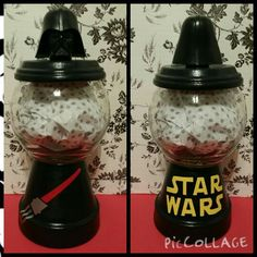 Flower Containers, Candy Containers, Candy Jars, Candy Dishes, Clay Pot Projects, Clay Pot Crafts, Gift Jars, Jar Gifts, Diy Gumball Machine