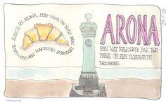 Dagje naar Arona. #illustratie #artjournal #watercolour #vakantie #italie #Sandysign. http://sandysign.nl