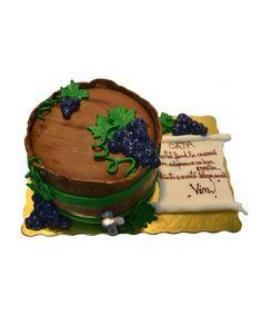 Wine barrel cake by Tuffli www.tuffli.ro