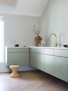 Totalinnredning til leilighet i Kristiansand Dream Kitchen, Countertops, Interior, Bespoke Kitchens, Home Decor, Kitchen, Interior Architect, Interior Inspo, Home Decor Tips