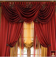 I love fancy curtains!