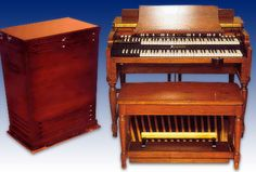 The Hammond organ is an electric organ invented by Laurens Hammond in 1934 and manufactured by the Hammond Organ Company. Electronic Music Instruments, Musical Instruments, Hammond Organ, Leslie Speaker, Online Music Lessons, Organ Music, Soul Funk, Piano Player, Musicals