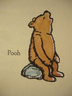 Winnie–the–Pooh.......we painted this, and several other pics from this book onto the Nursery wall.
