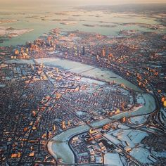 The city covered in snow #perfectbostonholiday