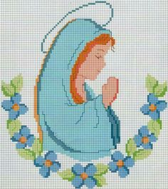 Mini Cross Stitch, Simple Cross Stitch, Cross Stitching, Cross Stitch Embroidery, Religious Cross Stitch Patterns, Cross Stitch Numbers, Crochet Christmas Decorations, Plastic Canvas Patterns, Christmas Cross