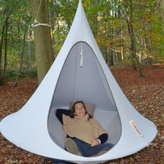 I spy someone super relaxed in a cocoon hammock @ http://hammocktown.com/products/double-cacoon-hammock-sky-blue