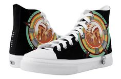 Indian Head Test Pattern Black High Top Sneakers by NDGRags on Zazzle. Black High Top Sneakers, Black High Tops, Vintage Television, Indian Head, Top Shoes, Converse Chuck Taylor, Old School, Pattern Design, Inspired