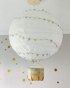 IKEA REGOLIT Hack Heißluftballon mit Wimpelkette www.limmaland.com