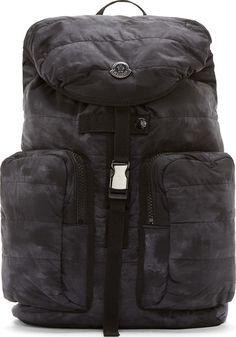 13fb51a72966 Moncler Black Quilted Matte Backpack Black Quilt