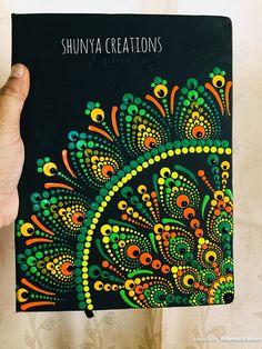 Few beautiful mandala diary and planner I painted.Image gallery – Page 58898707612441182 – Artofit Mandala Canvas, Mandala Dots, Mandala Pattern, Pattern Art, Dot Art Painting, Mandala Painting, Stone Painting, Painting Patterns, Painting Glass Jars