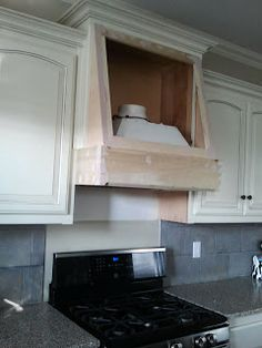 Diy range hood cover plans re what 39 s the cheapest way for Stove top with built in vent