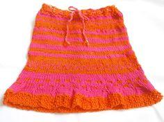 Rock ca. 2-5 Jahre Pink und Orange von BlackSheepFactory auf DaWanda.com
