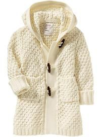 Toggle Sweater Coats for Baby