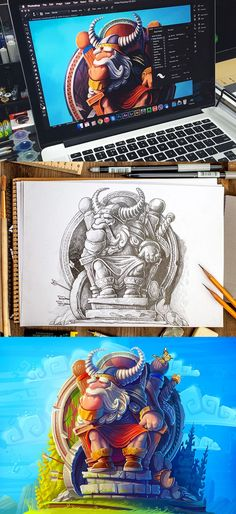 Finally, Odin illustration is already done. So, we can show it in color now)
