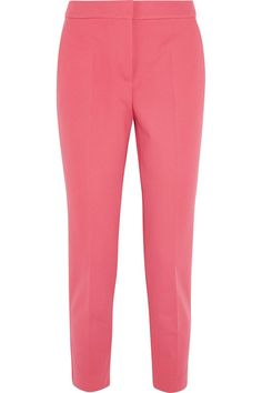 Bubblegum stretch-jersey Concealed hook, button and zip fastening at front 84% viscose, 11% nylon, 5% elastane Dry clean