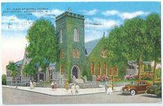 Atlantic City NJ St James Episcopal Church Rectory Vintage Postcard New Jersey