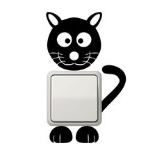 Katze Aufkleber Lichtschalter Aufkleber Wandtattoo in Möbel & Wohnen, Dekoration, Wandtattoos & Wandbilder | eBay