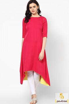 Get beautiful red color fish cut long anarkali kurti in cheap cost. Stylish cut designs and patterns skirts and kurtas and tunics online shopping at pavitraa. #anarkalistylekurti #partywearkurti #heavylookkurti #partyspecialkurti More: http://www.pavitraa.in/catalogs/evening-wear-kurtis-for-girls/?utm_source=hp&utm_medium=pinterestpost&utm_campaign=15july