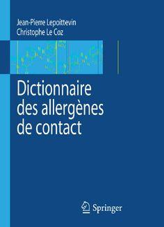 Télécharger livre gratuit : Dictionnaire des allergènes de contact pdf gratuit - FrenchPdf - Télécharger des livres pdf