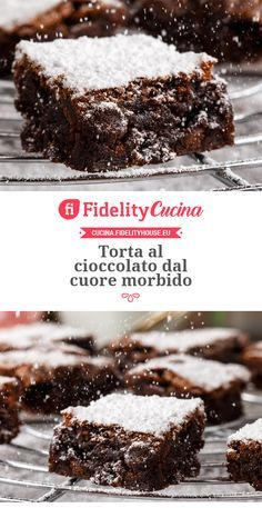 Chocolate cake with a soft heart-Torta al cioccolato dal cuore morbido Chocolate cake with a soft heart - Italian Desserts, Italian Recipes, Mexican Food Recipes, Sweet Recipes, Italian Dishes, Pie Dessert, Dessert Recipes, Chocolate Recipes, Chocolate Cake