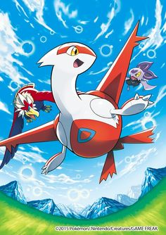 Latias with Bravery and Noibat ^_^ ^.^ ♡ I give good credit to whoever made this  I found this in gourgeist.tumblr.com