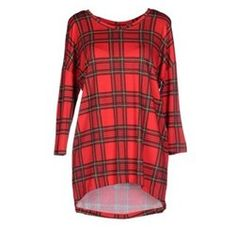 Bold Red Checked Jersey Dress