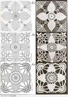 Lace Crochet Motifs with Charts