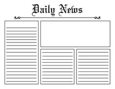 template for a newspaper