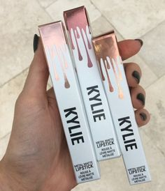 Heavy metal: Kylie Jenner, 18, is adding metallic matte lipstick shades to her Kylie Cosmetics make-up line