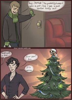 Christmas Sherlock Style! | Larkable.com