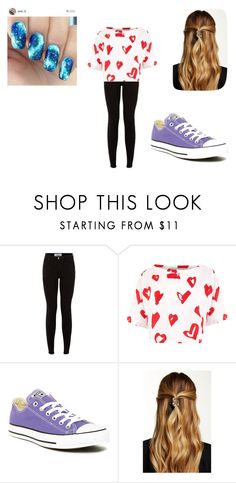 """""""A outfit"""" by jordanbond55 ❤ liked on Polyvore featuring beauty, Être Cécile, Converse and Natasha Accessories"""