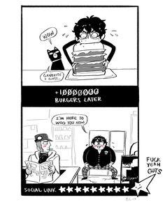Persona 5 ship opinions - Akira x Iwai Persona Five, Persona 5 Memes, Persona 5 Anime, Persona 5 Joker, Shin Megami Tensei Persona, Gamer Humor, Kageyama, Super Smash Bros, Akira