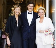 Jean-Christophe, Prince Napoléon (with his sister Princess Caroline and mother Princess Béatrice of Bourbon-Two Sicilies).