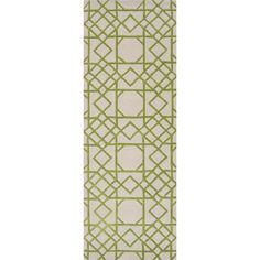 Runner for kitchen - green peridot handtufted - 100% wool beige and lime