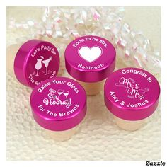 Personalized Pink Aluminum Top Bottle Stopper Stoppers Wedding Favors Vouchers