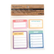 Craft It™ Organize It Mini Sticky Note Reminders by Recollections™