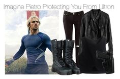 """Imagine Pietro Protecting You From Ultron"" by fandomimagineshere ❤ liked on Polyvore featuring Dr. Martens"